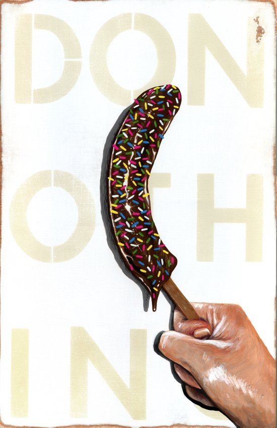 DO NOTHING Frozen Banana with sprinkles   Canvas Print