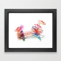 Switch Kickflip  Framed Art Print