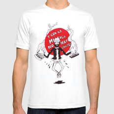 And with the music there are no limits... Mens Fitted Tee White SMALL