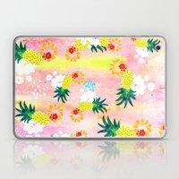 Floral Pineapple Punch Laptop & iPad Skin