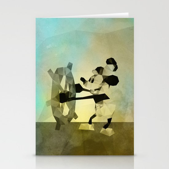 Mickey Mouse as Steamboat Willie Stationery Card