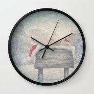 Winter Wonderland Birds  Wall Clock