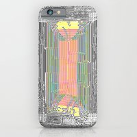 iPhone & iPod Case featuring Glitch in the Style of Art Nouveau  by Horus Vacui