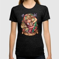 Once Upon A Dream Womens Fitted Tee Tri-Black SMALL