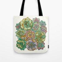 Blooming Succulents Tote Bag