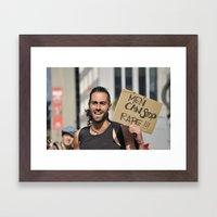 Men can stop rape Framed Art Print