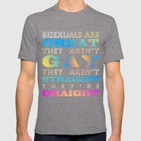 Bisexuals Are Great! Mens Fitted Tee Tri-Grey SMALL