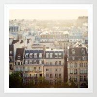 Dans Mon Reve de Paris Art Print