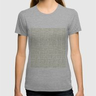 Lines Green Womens Fitted Tee Athletic Grey SMALL
