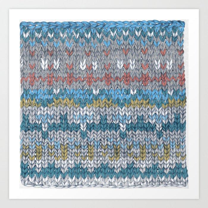 Knitting Art Print : Knitting art print by nadezda fava society
