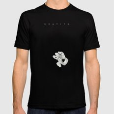 G. SMALL Black Mens Fitted Tee