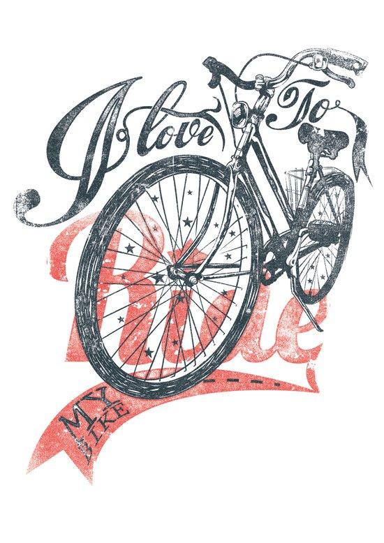 I love to ride Art Print