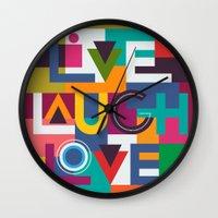 C13 LIVELAUGHLOVE v2 Wall Clock