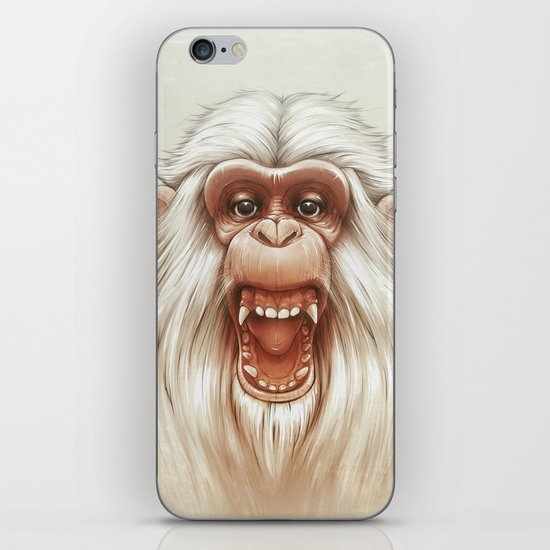 The White Angry Monkey iPhone & iPod Skin