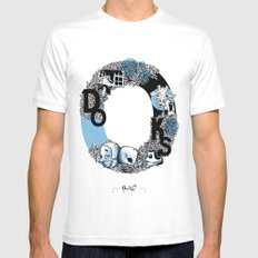 O DOKS SMALL White Mens Fitted Tee