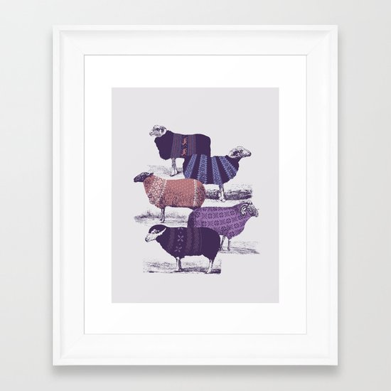 Cool Sweaters Framed Art Print