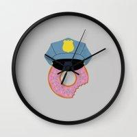 Officer Donut Wall Clock