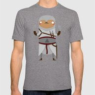 Assassin Sloth Mens Fitted Tee Tri-Grey SMALL