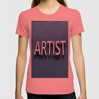Artist Womens Fitted Tee Pomegranate SMALL