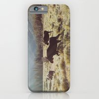 iPhone & iPod Case featuring Three Meadow Moose by Kevin Russ