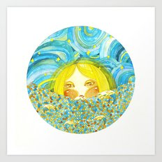 Lady Moon Art Print