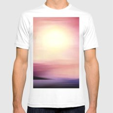 sunset in september. White Mens Fitted Tee SMALL