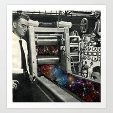 Printing a galaxy  Art Print