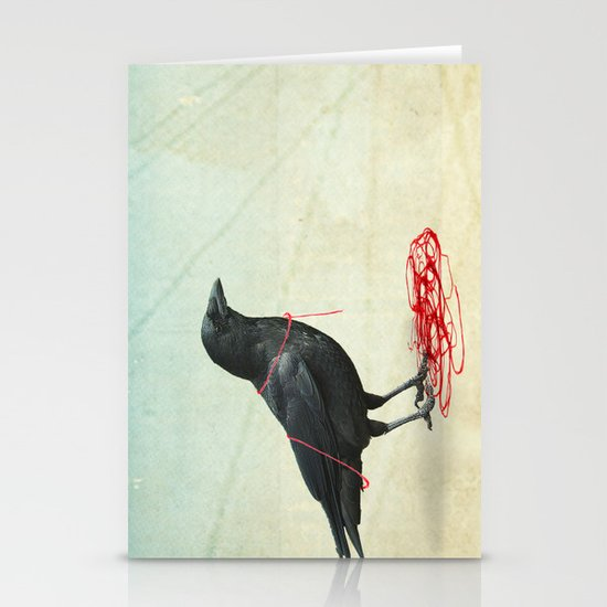 freedom  _ black crow Stationery Card