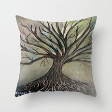 Bare tree-2 Throw Pillow