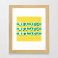 The Fighter, Not You (Ru… Framed Art Print
