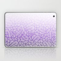 Gradient purple and white swirls doodles Laptop & iPad Skin