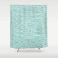 Blue Scribbles 05 Shower Curtain