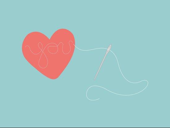 Stitched Heart Art Print