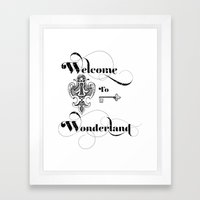 Alice In Wonderland Welcome To Wonderland Framed Art Print