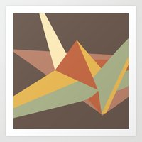 Abstract Crane Art Print
