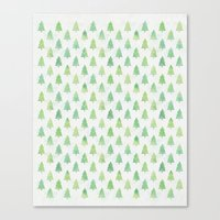 Simple Pine Tree Forest … Canvas Print