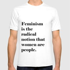 Feminism  SMALL White Mens Fitted Tee