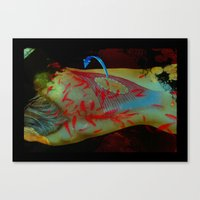 Swimming Body Canvas Print