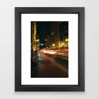 Portland Lights at Night Framed Art Print