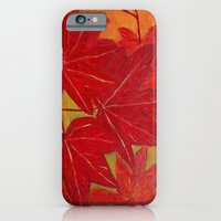 Red leaves iPhone 6 Slim Case