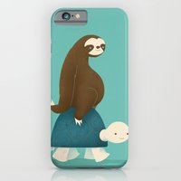turtle iPhone & iPod Cases featuring Slow Ride by Jay Fleck