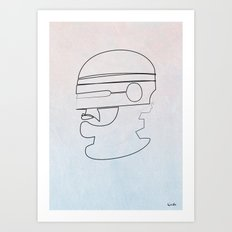 One Line Robocop Art Print