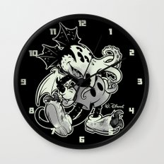 MICKTHULHU MOUSE (monochrome) Wall Clock