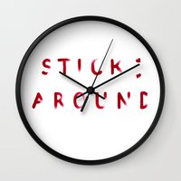 Stick Around Wall Clock