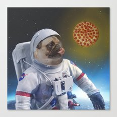 Pugernaut - Pug In Space Canvas Print
