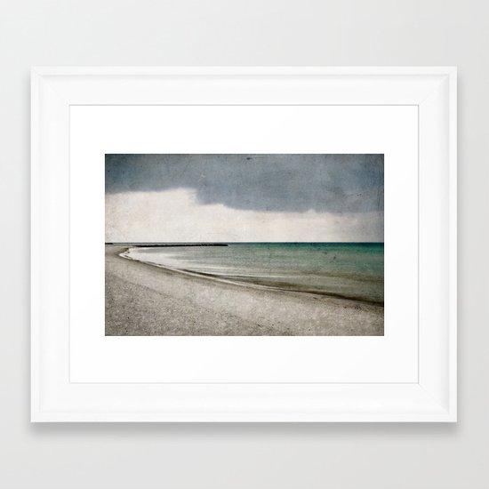 storm approaching Framed Art Print