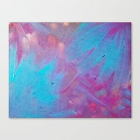 Blue Bloom Abstract Canvas Print