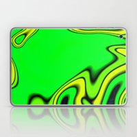 Green Yellow and blue abstract Laptop & iPad Skin