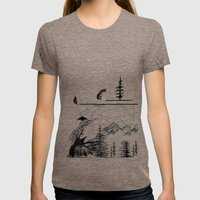 Murder On The Mountain Womens Fitted Tee Tri-Coffee SMALL