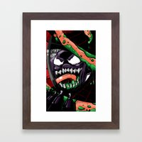 To Catch A Spider (Purpl… Framed Art Print